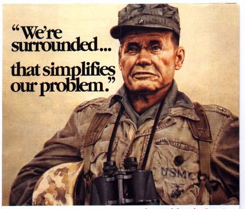 Lt. Gen 'Chesty' Puller, one of the most decorated and most respected Marine Officers, discussing the tactical issues facing his Marines during the historic fighting withdrawal from Chosin Reservoir to Hungnam